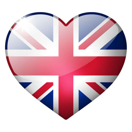 uk heart button photo