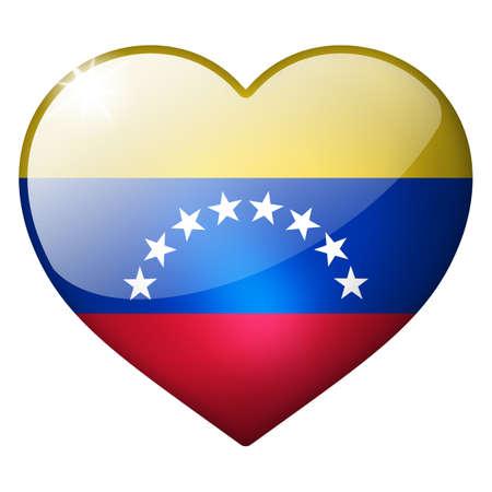venezuela heart button photo