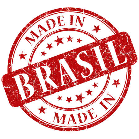 made in brasil stamp photo