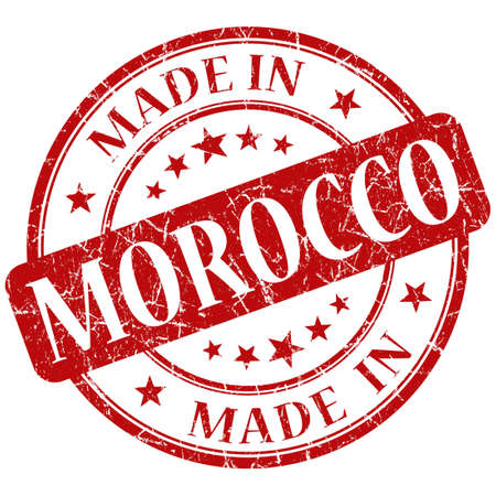 made in morocco stamp Stock Photo