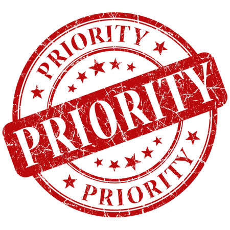 prioritize: priority stamp Stock Photo