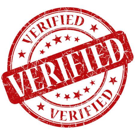 verified stamp Stock Photo