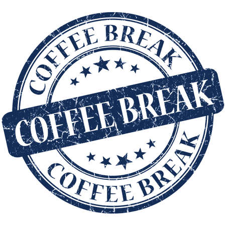 Coffee Break Blue stamp photo