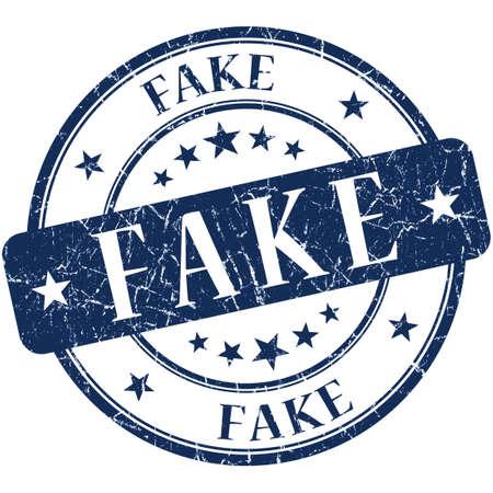 untrue: Fake Blue stamp