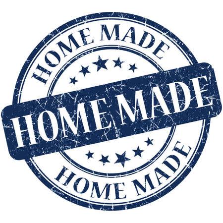home made: Home Made Blue stamp