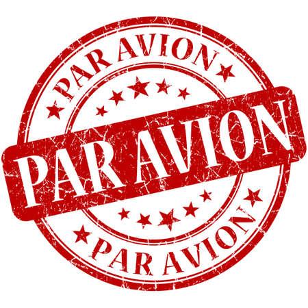 Par Avion Red stamp