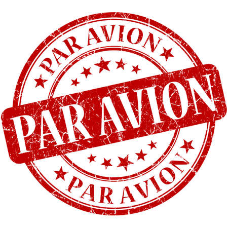 par: Par Avion Red stamp