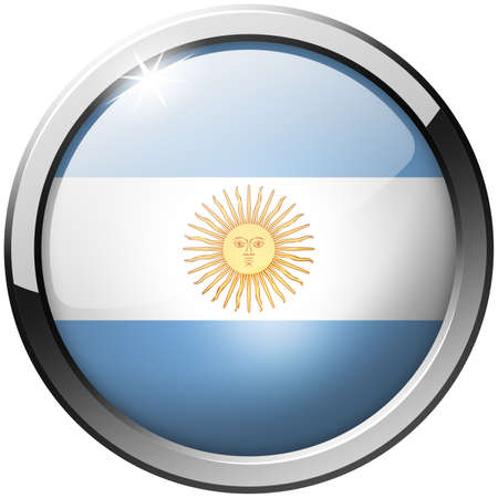 Argentina Round Metal Glass Button photo