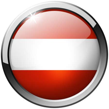 Austria Round Metal Glass Button photo