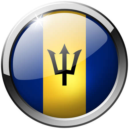 Barbados Round Metal Glass Button Stock Photo - 21200712