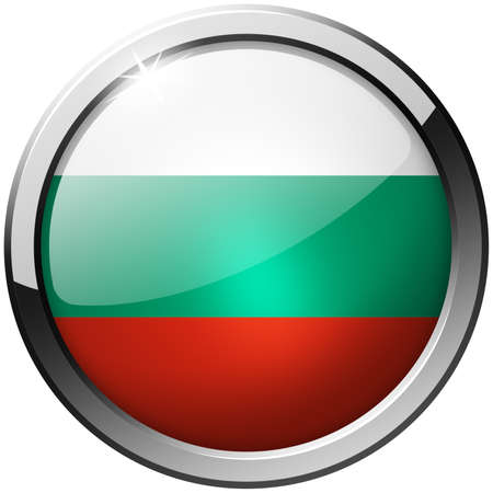 Bulgaria Round Metal Glass Button photo