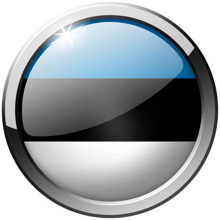 Estonia Round Metal Glass Button photo