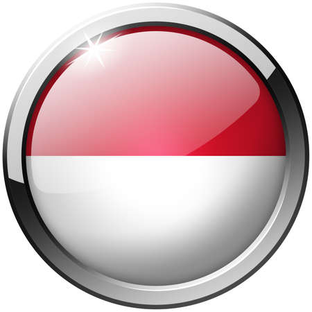 Indonesia Round Metal Glass Button photo