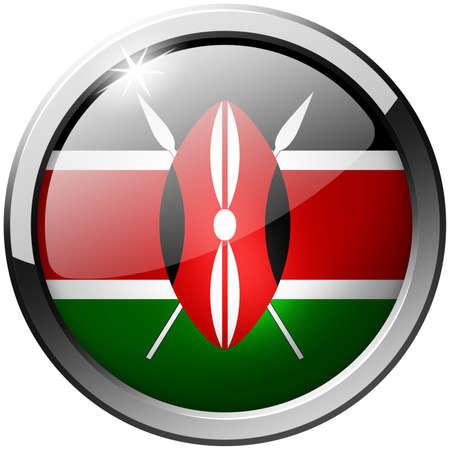 Kenya Round Metal Glass Button photo