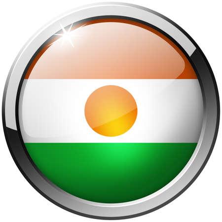 niger: Niger Round Metal Glass Button