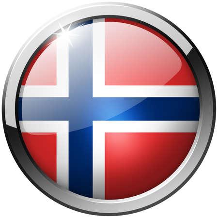 Norway Round Metal Glass Button photo