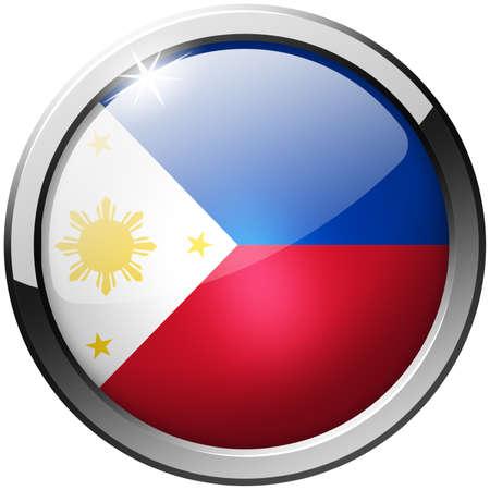 Philippines Round Metal Glass Button photo