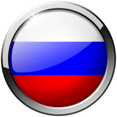 Russia Round Metal Glass Button photo