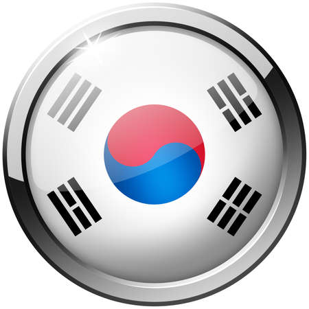 South Korea Round Metal Glass Button photo