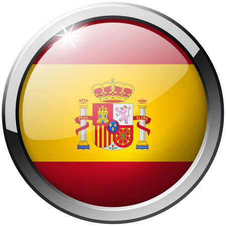 Spain Round Metal Glass Button photo