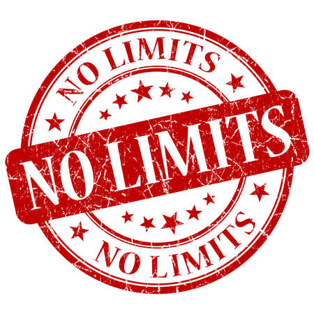 unlimited: No Limits Red Stamp Stock Photo