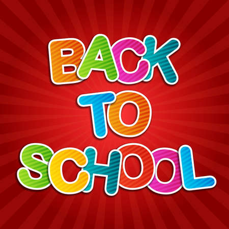 Back To School Red Poster photo