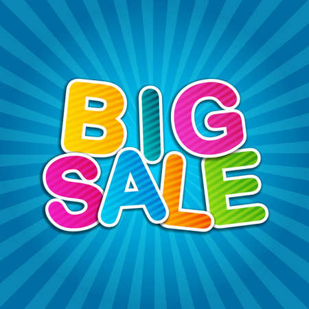 clearance sale: Big Sale Blue Poster