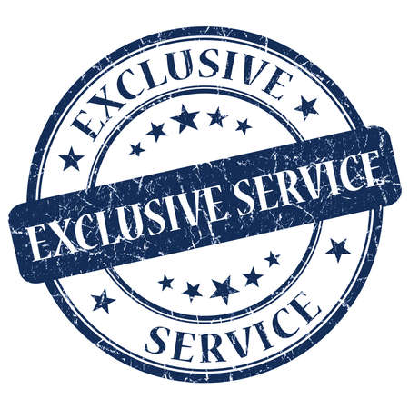 assured: Exclusive Service Blue Stamp Stock Photo