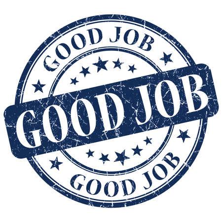 good job: Good Job Blue Stamp