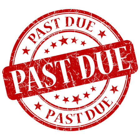 the past: Past Due Red Stamp Stock Photo