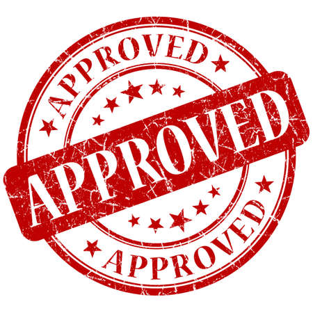 Approved red stamp Stock Photo