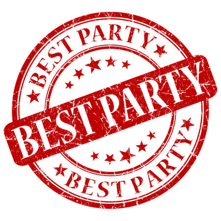 best party: BEST PARTY timbro rosso