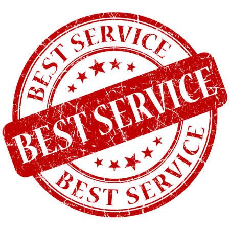 premier: Best service red stamp