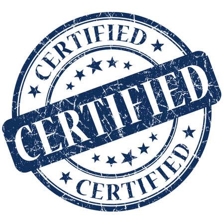 Certified Stamp blue Stok Fotoğraf