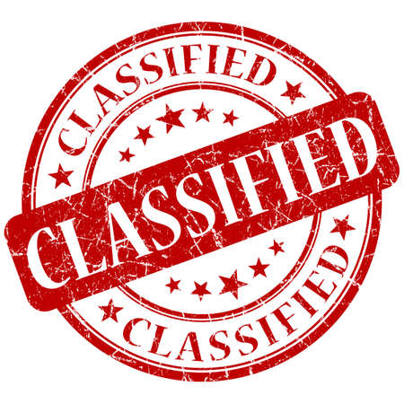confidentiality: Classified red stamp