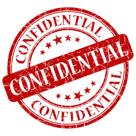 confidentiality: Confidential red stamp