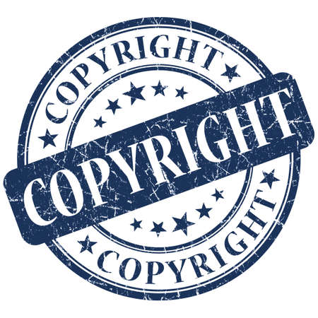 plagiarism: COPYRIGHT Blue stamp