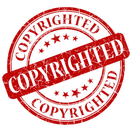 copyrighted: COPYRIGHTED red stamp