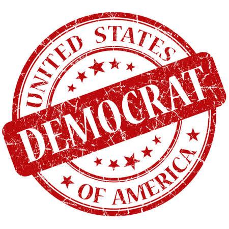 democrat: Democrat Red stamp