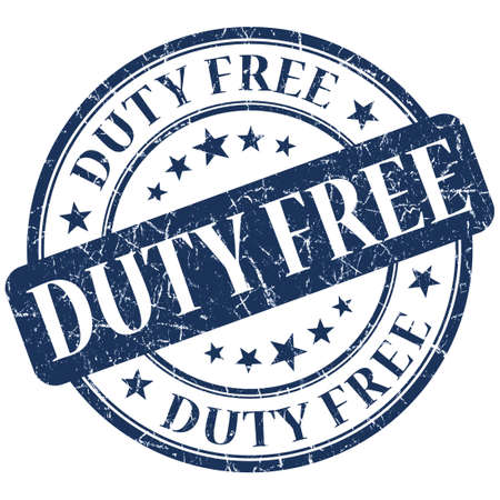 duty: DUTY FREE blue stamp
