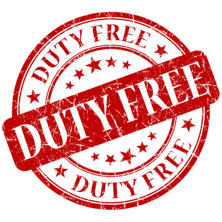 duty free: DUTY FREE red stamp