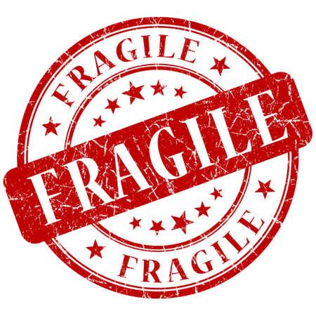 frail: Fragile red stamp