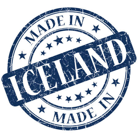 made in iceland stamp photo