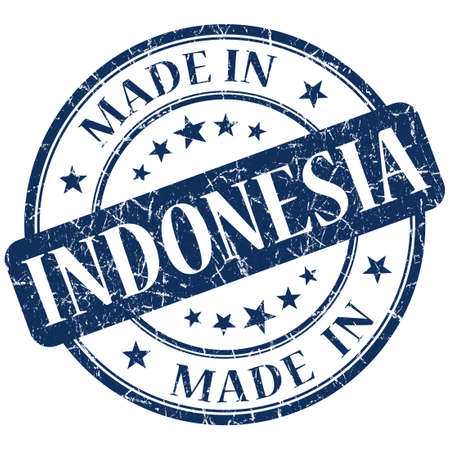 made in indonesia stamp photo