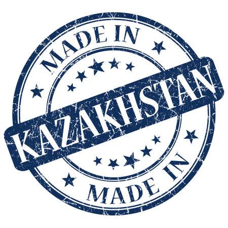 kazakhstan:  made in kazakhstan stamp Stock Photo