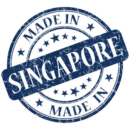 made in singapore stamp Stock Photo - 21442656