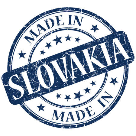 made in slovakia stamp photo