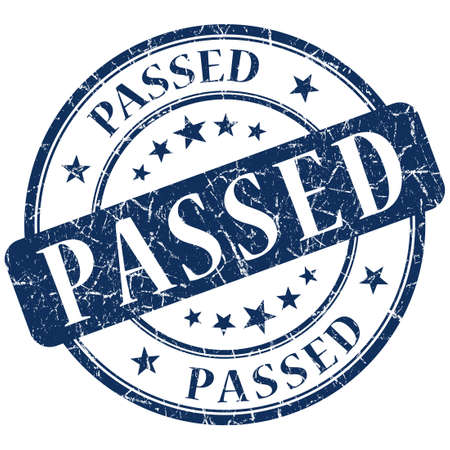 passed stamp: passed stamp