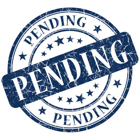 pending: pending stamp Stock Photo