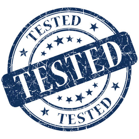 acceptation:  tested stamp Stock Photo
